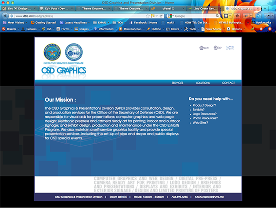 OSD Graphics Website